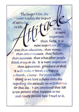 attitude by charles swindoll essay Read this college essay and over 1,500,000 others like it now why go to college attitude.